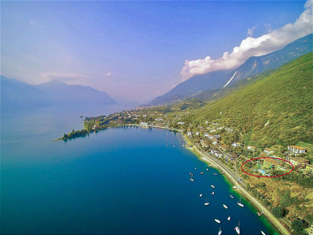 Gulf of Val di Sogno seen from drone